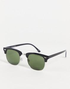 Черные солнцезащитные очки в стиле ретро Selected Homme-Черный цвет
