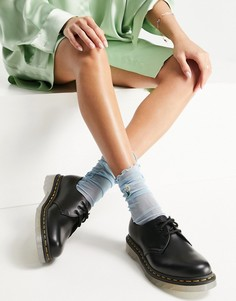 Черные туфли из гладкой кожи Dr Martens 1461 Iced-Черный цвет
