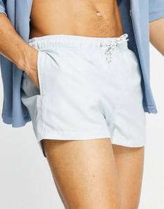 Синие укороченные шорты для плавания New Look-Голубой