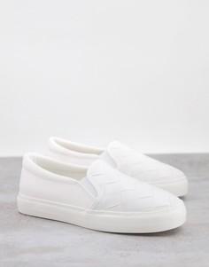 Белые плетеные кроссовки-слипоны Schuh Malin-Белый