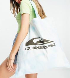 Голубая сумка-тоут с принтом тай-дай Quiksilver Wave Project - эксклюзивно на ASOS-Голубой