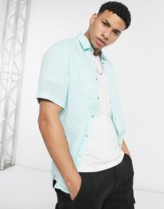 Рубашка скороткими рукавами BOSS Business Luka-Зеленый цвет
