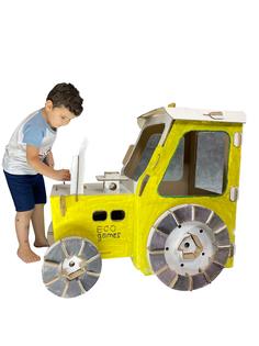 Игрововой картонный домик раскраска ECO GAMES Трактор