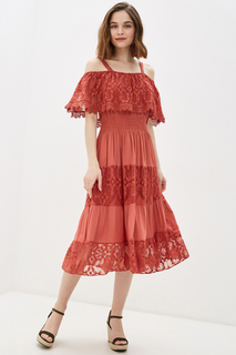 Платье-сарафан женское Baon B460034 красное M