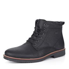 Черные кожаные ботинки на меху Rieker