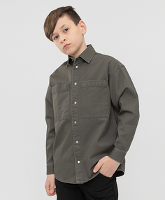 Сорочка хаки с принтом Button Blue