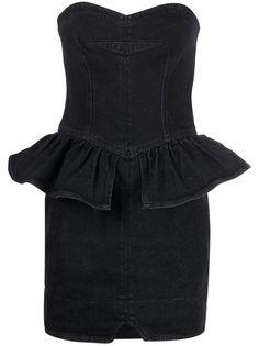 Isabel Marant джинсовое платье мини с баской