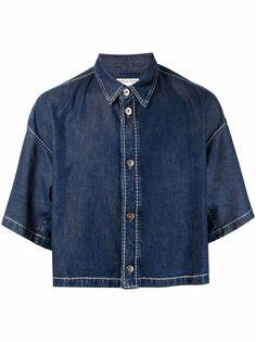 Bottega Veneta джинсовая рубашка свободного кроя