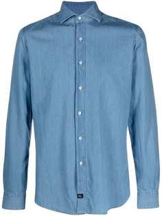 Fay джинсовая рубашка на пуговицах