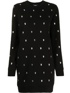 Karl Lagerfeld трикотажное платье с узором Karl
