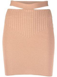 ADAMO облегающая юбка в рубчик