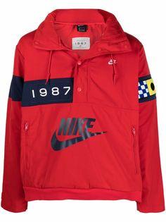 Nike куртка-анорак с логотипом