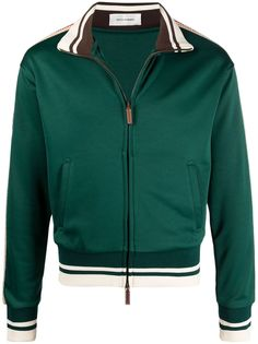 Wales Bonner спортивная куртка с контрастными полосками