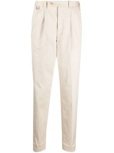 Neil Barrett зауженные брюки со сборками