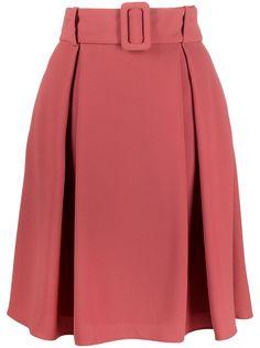 HUGO юбка А-силуэта с поясом
