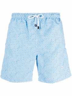Borrelli плавки-шорты с геометричным принтом