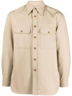 Lemaire рубашка с длинными рукавами и карманами