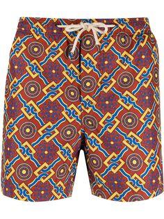 PENINSULA SWIMWEAR плавки-шорты с геометричным принтом