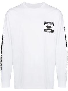 Neighborhood футболка с длинными рукавами и логотипом