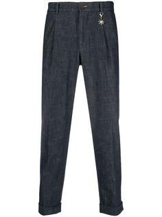 Manuel Ritz зауженные брюки со складками