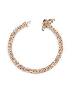 SHAY браслет из розового золота с бриллиантами