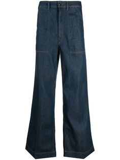 Lemaire расклешенные широкие джинсы