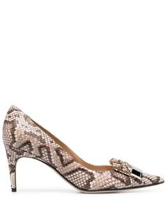 Sergio Rossi туфли со змеиным принтом