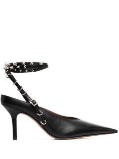 Abra туфли с заостренным носком и заклепками