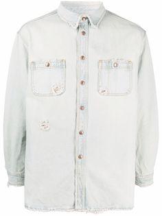 Prps джинсовая рубашка с эффектом потертости