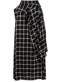 Maison Mihara Yasuhiro юбка макси в клетку