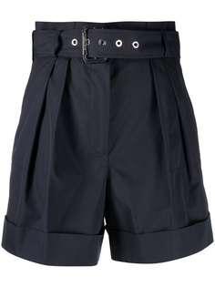 Alexander McQueen шорты с присборенной талией и подворотами