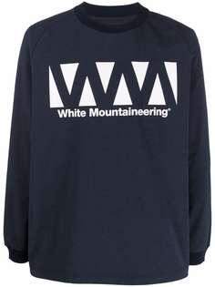 White Mountaineering футболка с длинными рукавами и логотипом