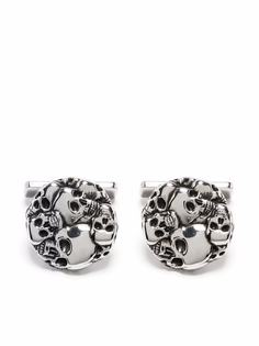 Alexander McQueen запонки с декором Skull
