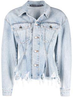 Alexander Wang джинсовая куртка с эффектом потертости