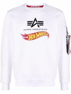 Alpha Industries толстовка с круглым вырезом и логотипом
