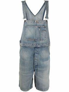 AMIRI джинсовый комбинезон с контрастной строчкой