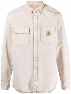 Carhartt WIP рубашка с длинными рукавами и нашивкой-логотипом