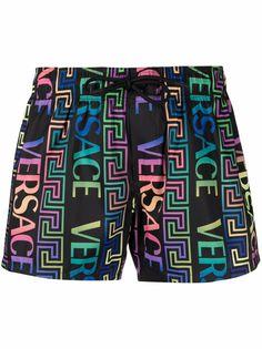 Versace шорты бикини с принтом Greca Neon