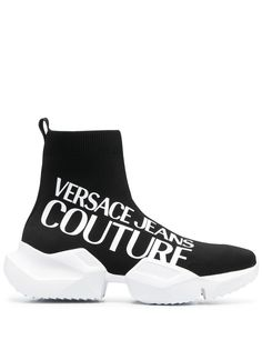 Versace Jeans Couture кроссовки-носки с логотипом