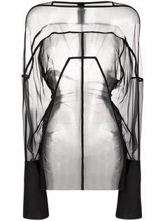 Rick Owens туника Collage с длинными рукавами
