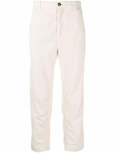 Brunello Cucinelli вельветовые брюки прямого кроя