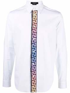 Versace рубашка с длинными рукавами и узором Greca
