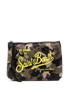 Mc2 Saint Barth несессер с камуфляжным принтом и логотипом