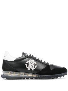 Roberto Cavalli кроссовки с нашивкой-логотипом