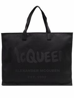 Alexander McQueen сумка-тоут с логотипом