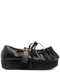 Marni туфли на платформе со сборками