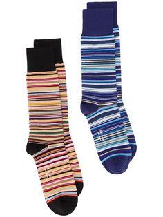 PAUL SMITH комплект из двух пар носков в полоску