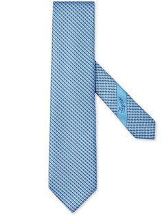 Ermenegildo Zegna галстук с геометричным принтом