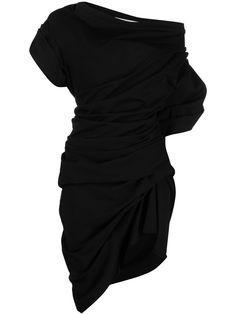 Alexander Wang платье с открытыми плечами и сборками