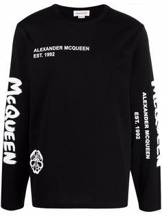 Alexander McQueen футболка с принтом Skull